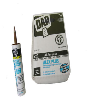 Alex Plus CEDAR TAN Caulk Box(12pcs)